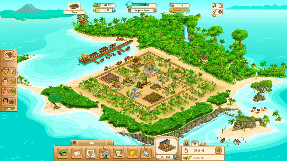 Goodgame Big Farm - Tropical island