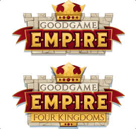 Logos of Goodgame Empire and Empire: Four Kingdoms