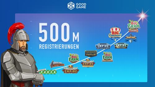 500 Millionen Registrierungen