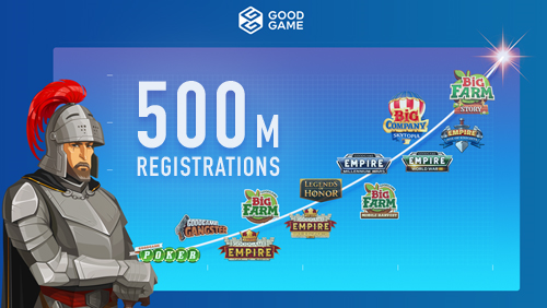 500 million registered players